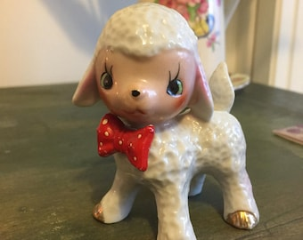 Vintage lamb pot ornament