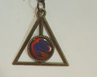 """Rose Pink """"Harry Potter / Deadly Hallows"""" Pendant"""