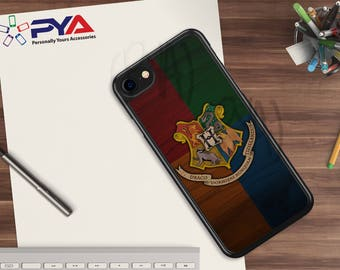 Harry Potter Phone Case - All Houses of Hogwarts Woodgrain for Apple iPhone & iTouch Devices Harry Potter iPhone Case