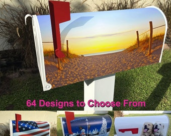 Beach Path Magnetic Mailbox Cover