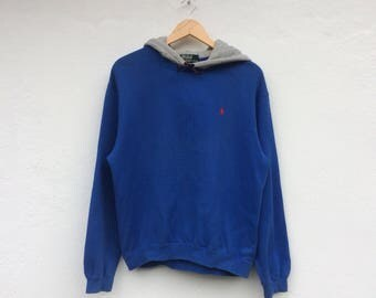 Vintage Polo RALPH LAUREN Small Pony Pullover Hoodie
