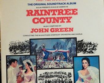 RAINTREE County (1976 Limited Reissue from 1958 film, music John Green, Original Soundtrack, 1st Time Ever Released In Stereo) Liz Taylor