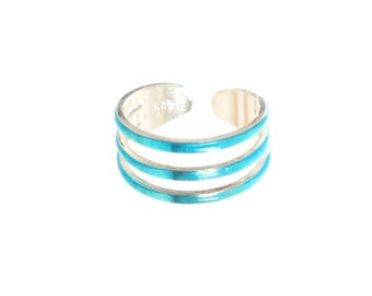 Sterling Silver Treble Ring Design Toe Ring In Various colours.