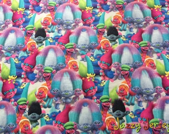 Trolls french terry knit fabric