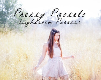 25 Soft Pastel Lightroom Presets Professional Photo Editing for Portraits, Newborns, Weddings By LouMarksPhoto