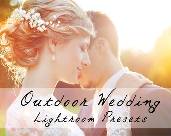 125 Professional Outdoor Wedding Pro Lightroom Presets Professional Photo Editing for Portraits, Newborns, Weddings By LouMarksPhoto