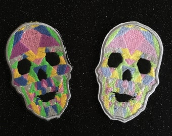 Crystal Skull Iron On Patch