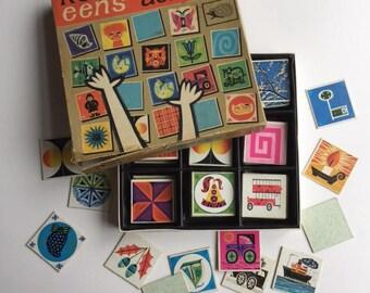 Vintage memory game, complete Egel spelen Kom er maar eens achter memory game , 60 pairs from 1974