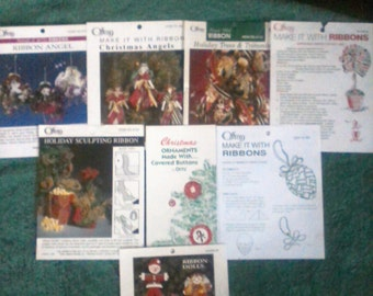 8 Christmas Make It With Ribbon How to Pamphlets