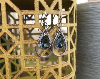 Light sapphire earrings