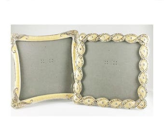 mothers day sale enamel picture frames wedding picture frames crystals matching picture frames engagement frame pearl enamel frame squ