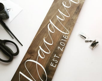 Family sign, wood sign, estabilished, family name sign, last name sign