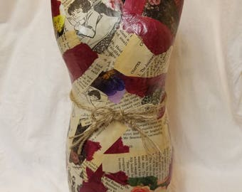 Book Lovers Body Collage Home Decor, Body Form, mannequin