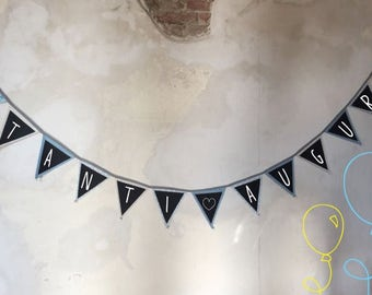 chalkboard banner / Reusable Banner / Rewritable Banner / party banner / wedding banner /