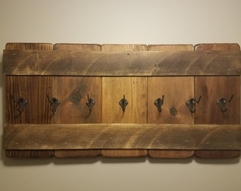 Rustic Coat Rack ~ Rustic Wall Decor ~ Coat Hooks ~ Cottage Chic ~ Rustic Home Decor ~ Reclaimed Wood