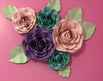 Paper Flower Backdrop-Nursey Decor**********Customize Your Order*************