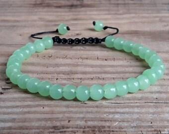 Green chrysoprase bracelet heart chakra bracelet energy bracelet meditation bracelet chakra healing yoga bracelet wrist mala bracelet gift