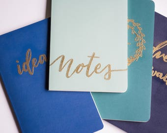 Handlettered Moleskine Notebook