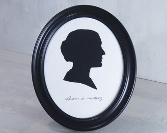 Susan B Anthony Silhouette. Framed Wall Art.