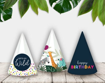 Party Animal Printable Party Hats