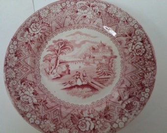 Adderly Rhone transferware plate