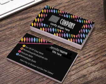 Multi Colored Feather Business Card - Black Background - Home Office Approved Fonts/Colors - Branding Guide Compliant - MuLaCash - Care Card