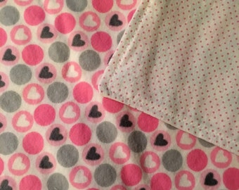 CLEARANCE - Large Double Sided Flannel Blanket, Wheelchair Blanket, Lap Blanket, Throw Blanket, Lab Robe, Ladies Blanket, Sofa Blanket