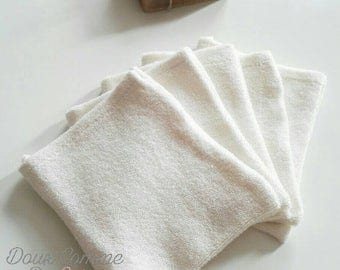 Cleansing glove or learning in organic cotton washcloth