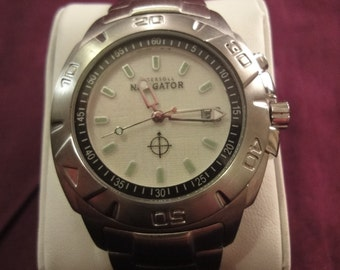 Gents INGERSOLL Navigator watch with date apperture stainless steel