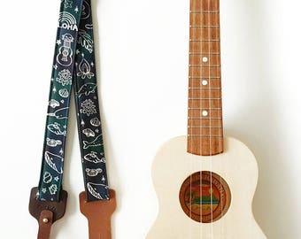 Ukulele Strap _ Dream Of Sea / Ready to ship / ukulele accessories