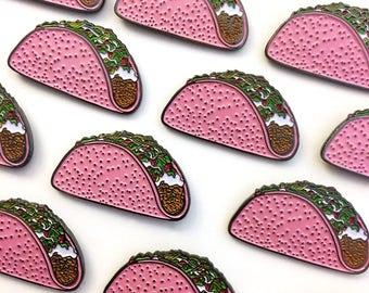 Pink Taco - Enamel Pin