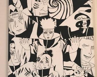 Akatsuki Naruto Painting