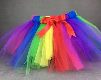 Rainbow tutu, Tutu Skirt, Cake Smash, Birthday outfit, Photo Props, Tutu, birthday tutu