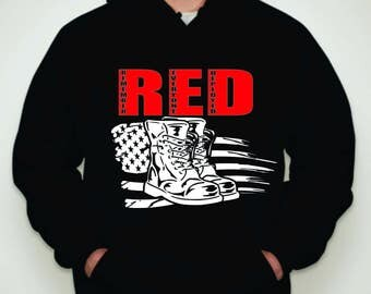 Remember Everyone Deployed Hoodie- Red Friday Hoodie