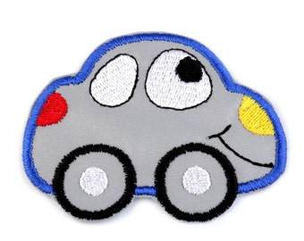 Car Reflective Iron on Applique, Cute Car Iron on Patch, Iron-on Application