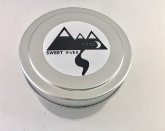 4 oz Sweet River (maple oatmeal FO) Soy Wax Travel Candle In Tin