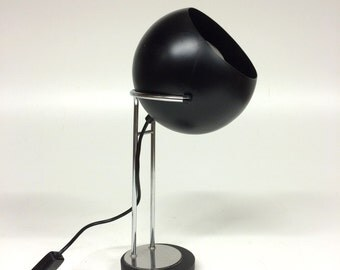 Large vintage ball lamp/table lamp-black ball-Retro Lighting-Design