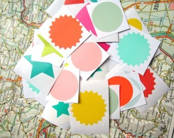 40 Stickers (suitable for world map envelopes)