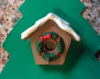 Hallmark Christmas birdhouse pin