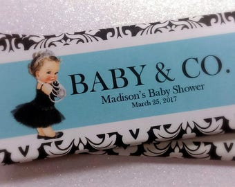 Breakfast at Tiffany's Inspired Baby & Co. Candy Bar Wrappers