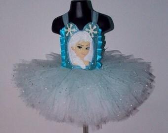Handmade Elsa Frozen inspired tutu dresses - newborn to adult  princess disney fancy dress