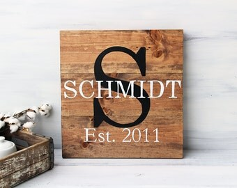 Last Name Sign, Pallet Name Sign, Family Name Sign, Family Name Established Sign, Wood Farmhouse Sign, Gifts for Women, Modern Farmhouse