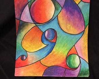 Unique Oil Pastel Biomorphic Series