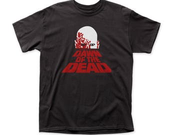 Dawn of the Dead Poster Soft 30/1 Cotton Tee (DAWN02) Black