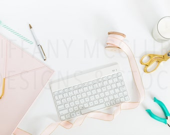Styled Blush + Teal Desktop | Styled Stock Photography