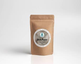 Black Pepper Full Body Sugar Scrub Refill [Vegan & Organic] Teal Anchor