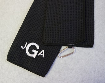 Black or Grey TriFold Golf Towel