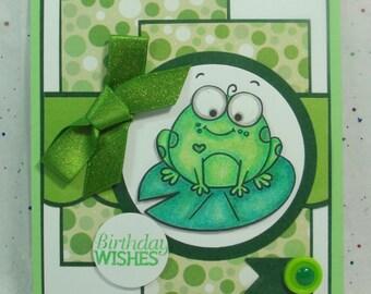 Unique Birthday Card, Cute Birthday Card, Fun Birthday Card, Birthday Card, Greeting Card, Card for Anyone, Frog Birthday Card,