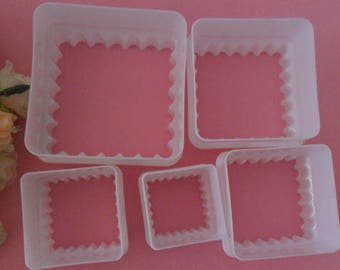 Box 5 moulds cakes away Pieces sold by square pastry cake sandy