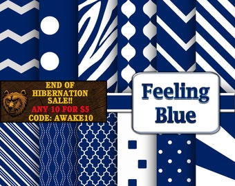 blue digital paper, blue scrapbook paper, blue background